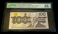 $100 1988 Bank of Canada Note • Serial # BJB9029479  • PMG Choice VF 35