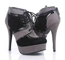 "2 Color Ankle High 5"" Stilettos High Heels Platform Pump Sneaker Womens Booties"