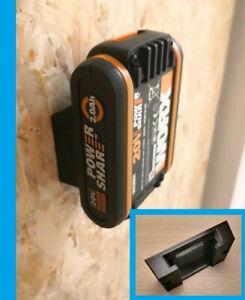 5x Akku Wand Halterung 16V 20V Batterie Halter für Worx Power Share Wandhalter