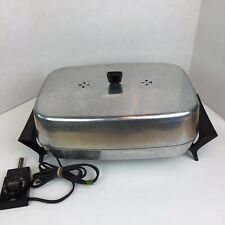 """Vintage Sears Electric Skillet Buffet Server 11"""" x 15"""" Immersible USA"""