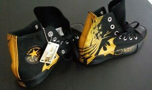CONVERSE Men's BATMAN Sneakers HI Shoes NEW NO BOX Black Yellow Size 6 Free Ship
