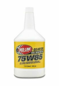 Red Line 50104 Fully Synthetic 75W85 GL-5 Gear Oil for Differentials - 1 Quart
