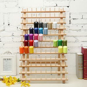 120 Spool Wood Thread Cone Holder Rack Sewing Quilting Embroidery