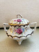 New listing Sugar Bowl, Footed, Hand Painted