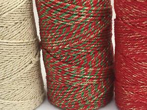 Bakers Twine - 5 metres, wrap presents, scrapbooking, card making, craft string