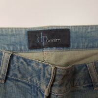 O10  Ladies Light Blue  Denim Jeans with Floral Embroidery design Size 14s