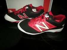 Brand New Mens Black & Red New Balance L4040BR3 Baseball Cleats, 11.5 D