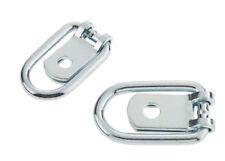 6 x piccola TIE DOWN LEGATURA anello zincati per rimorchio, Horsebox, Camion, Van