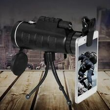 40x Zoom HD Clip Monocular Telescope Lens Universal Camera Double Tone 7350