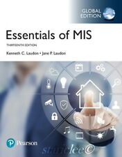 NEW 3 Days to US / CA Essentials of MIS 13E Kenneth C Jane Laudon 13th Edition