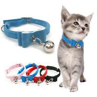 Adjustable Pet Collar Bell Dog Cat Kitten Bow Tie Neck Chain Collars Accessories