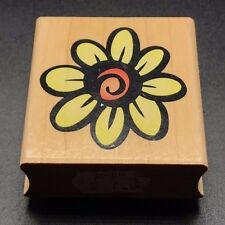 Hero Arts Large Daisy Design Prints E1455 Wooden Mounted Rubber Stamp 2