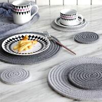 Weaving Coffee Drink Cup Mat Coasters Plain Tea Wine Table Pad Tableware Kitchen