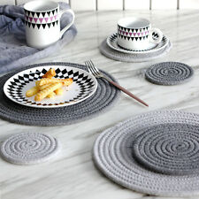 Weaving Coffee Cup Mat Coasters Plain Tea Wine Table Pad Home Kitchen Supplies