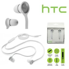 HTC Headphones E190 In-Ear Earphones Handsfree With Mic Tangle Free White New