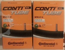 """2 Continental MTB 27.5"""" Zoll AV 40 mm Schlauch Conti Fahrrad tune 27,5 650B"""