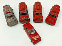 Vintage (5) TOOTSIETOY FIRE TRUCKS AND FIRE CHIEF (19-1897H)