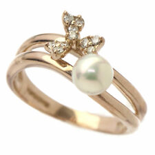 Vendome Aoyama Freshwater Pearl Diamond Ring K18PG 750 Size5.5-5.75(US) 90101184