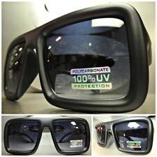 OVERSIZE VINTAGE RETRO PARTY CLUB RAVE PIMP Style SUN GLASSES Matte Black Frame