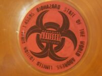 STATE OF THE WORLD ADDRESS BIOHAZARD 1994 ORANGE SEALED PROMO VINYL RECORD LP LE