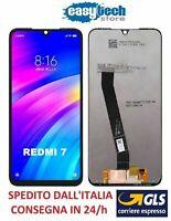 Touch Screen LCD Display Vetro Schermo Per  XiaoMi  Redmi  7  Nero / Black