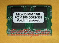 (US) 1GB X1 MicroDIMM 172PIN DDR2-533 PC2-4200 533MHz 1G memory RAM 09