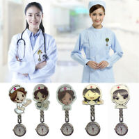 1PC Cartoon Pocket Nurse Watch Fobwatch Clip-on Fob Tunic Medical Brooch Gift