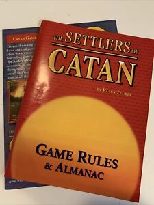 Settlers of Catan Game Replacement Pc: RULES GUIDE & ALMANAC only