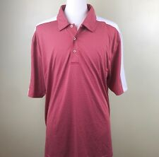 Oxford Golf Super Dry Mens Red White Gold Polo Shirt, Size XXL