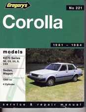 Toyota Corolla KE70 Series 1981 - 1984 Workshop Manual