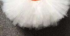 Crema Marfil falda tutú de ballet niñas 1-10 años hecho a mano NUEVO