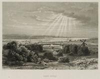 Blick auf das Schloss Sanssouci, Potsdam, 19. Jhd., Stahlst.