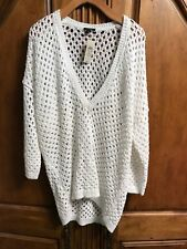 ANN TAYLOR WOMEN'S WHITE PULLOVER SWEATER SIZE XL NEW WITH TAGS