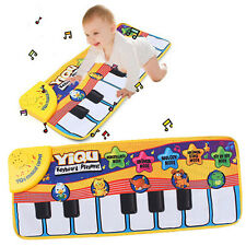 New Kids Touch Play Learn Singing Piano Keyboard Music Carpet Mat Blanket Toys '