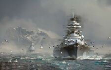 """YX00375 World Of Warships - Multiplayer Online Wargaming Game 22""""x14"""" Poster"""