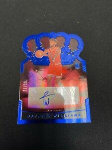 2020-21 NBA Crown Royale Patrick Williams Blue Cracked Ice Auto /75 (PSA10?)