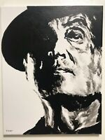 Rocky Balboa Sylvester Stallone Hand painted canvas fan art signed boxing sports