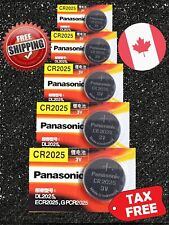 5 pecs Panasonic CR2025, BR2025, DL2025, 3V, Cell Lithium Watch Battery Exp 2023