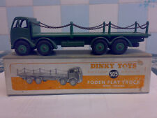 Original Dinky No 505 Foden Flat Truck With Chains