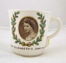 Royal Doulton Reina Elizabeth II 1953 Coronación Taza - Hecho en Inglaterra