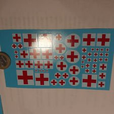 decals decalcomanie ambulance croix rouge 1/43 et plus