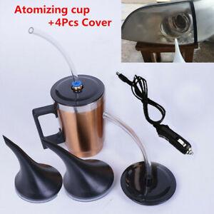 500ml Car Headlight Lens Refurbished Repair Tool Heating Atomizing Cup +4 Covers