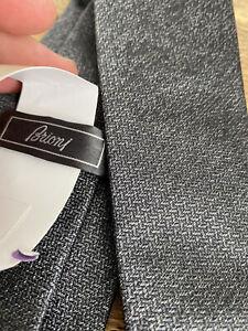 Brioni Tie Graphite BNWT 8cm Silk RRP £170