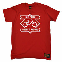 I Was Cycling Before It Was Cool T-SHIRT jersey funny birthday gift 123t present