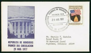 Mayfairstamps Honduras FDC 1977 American Flag Capitol First Day Cover wwp_75703