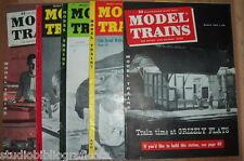 MODEL TRAINS Lotto di 6 riviste in inglese Treni Ferrovie Modellismo Locomotive