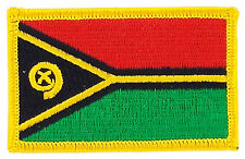 FLAG PATCH PATCHES VANUATU IRON ON EMBROIDERED SMALL