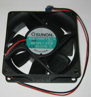 Sunon 80 mm High Speed Cooling Fan - 12 V - 42 CFM - 34 dB - KDE1208PTS1