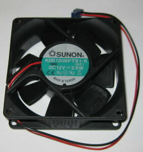 Sunon 80 mm High Speed Cooling Fan - 12 V - 42 CFM - 34 dB - KDE1208PTS1