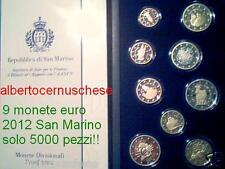 2012 9 monete 5,88 EURO San Marino Fs BE PP proof Saint Marin 2 EMU UEM TYE COM